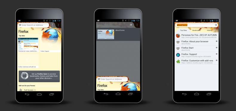 Lightweight theme on phones