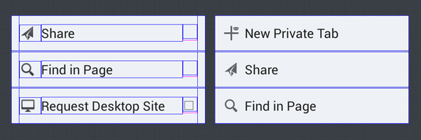 Left: Original complex layout with 8 views; Right: One single TextView.